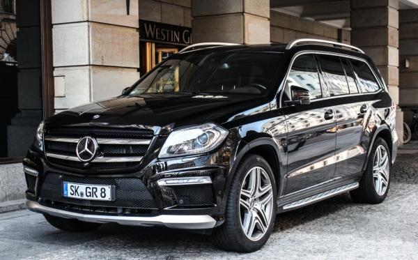 Сняты лекала с нового Mercedes GL-klasse